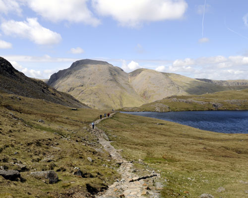 Walkers at Sprinkling Tarn